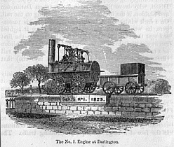 British Railway Mania Bubble: The Stephenson-No.1- Engine
