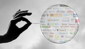 Social Media Bubble Image